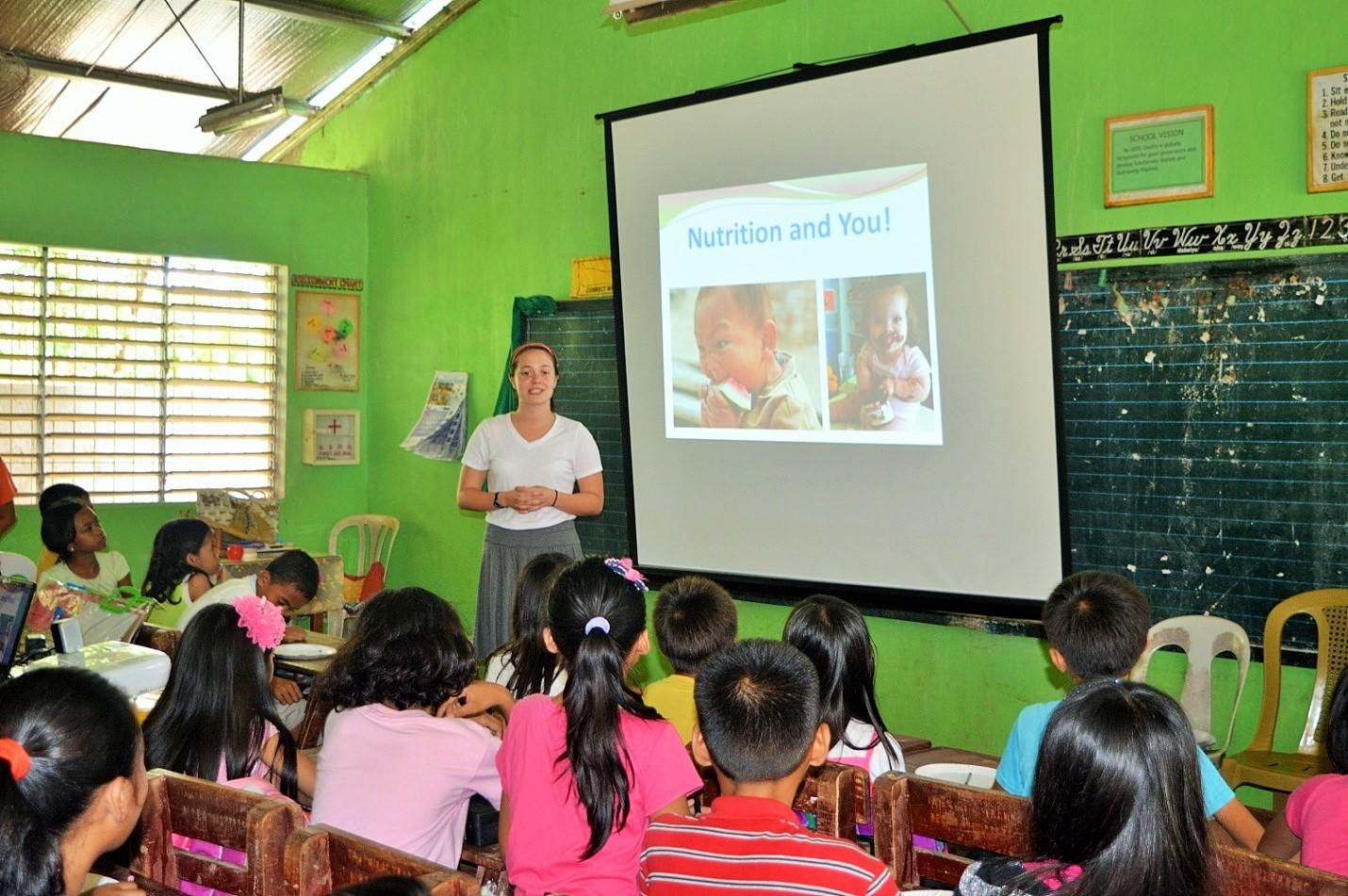 A nutrition presentation given on our medical internship for teenagers in the Philippines
